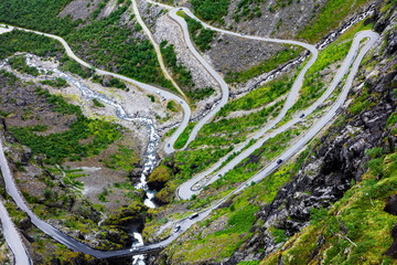 Norway troll road, mountain route