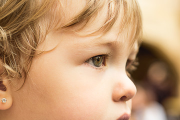 Close-up of a very pretty little girl with very pretty eyes