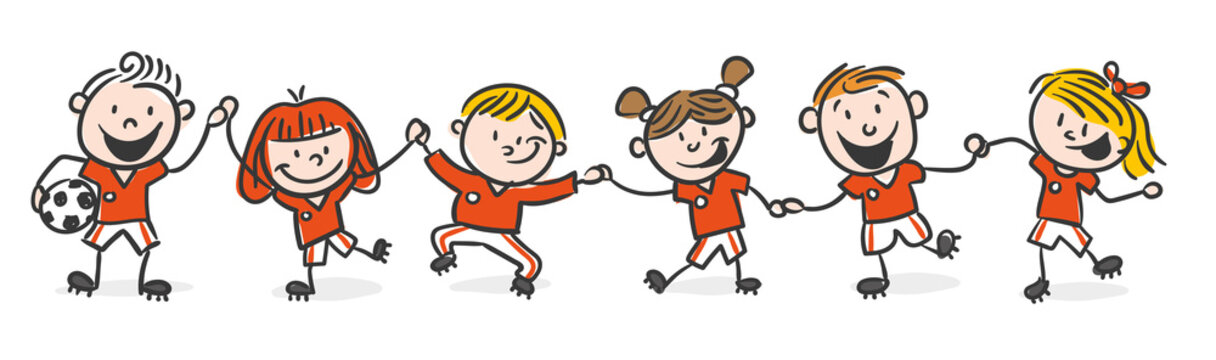 Kids Footballteam red