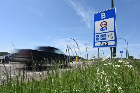 Frontiere pays europe panneau signalisation Belgique