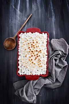 Sweet Potato Casserole Baked with Mini Marshmallows