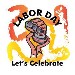 labor day vector logo