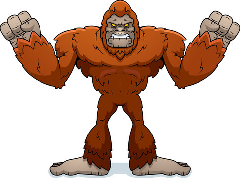Cartoon Sasquatch Angry