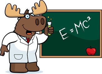 Cartoon Moose Scientist