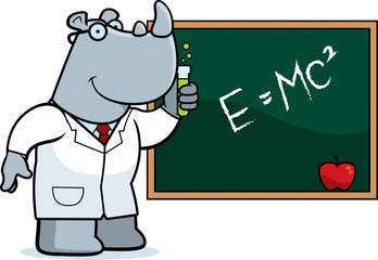 Cartoon Rhino Scientist
