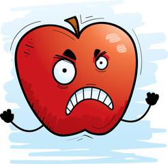 Angry Cartoon Apple