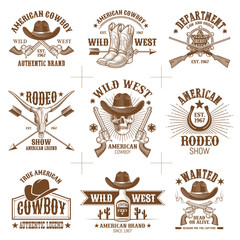 Wild West Logos Vector Collection 2