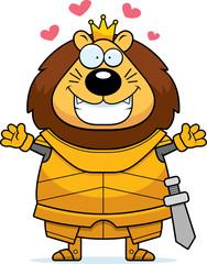 Cartoon Lion King Armor Hug