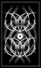 Tarot cards - back design.  Sun