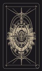 Tarot cards - back design, Solar Power, Incas Civilization