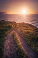 Beautiful path near the sea