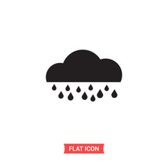 Cloud vector icon, weather symbol. Flat sign illustration for web or mobile app