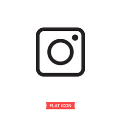 Instagram logo icon, simple illustration for web or mobile app