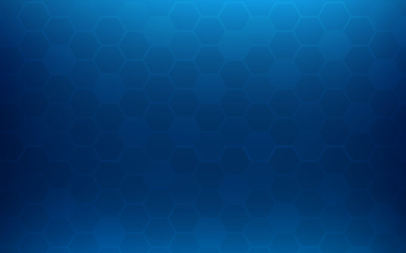 Blue honeycomb abstract background. Wallpaper and texture concept. Minimal theme