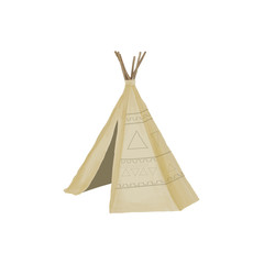 Teepee digital art aztec indian house digital art boho tribal tent marquee tabernacle illustration geometric on white background