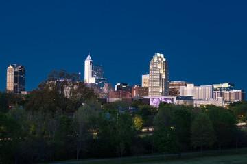 Raleigh, North Carolina Night Skyline