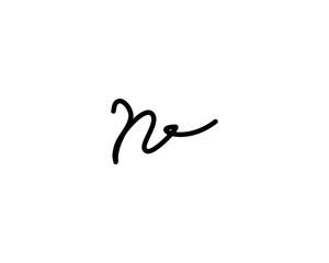 n letter signature logo
