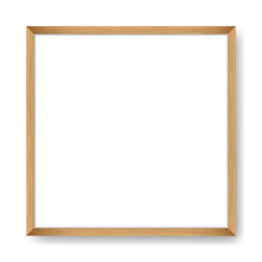 Square blank picture frame. Vector template