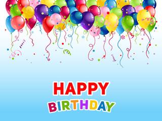 Birthday Bright holiday balloons