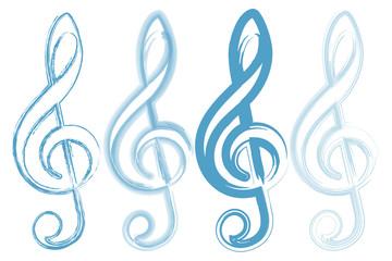 Notas y compases de musica.