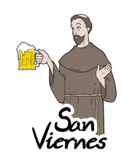 Funny Saint Friday message in spanish