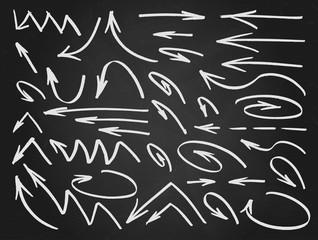 Vector arrows hand drawn set