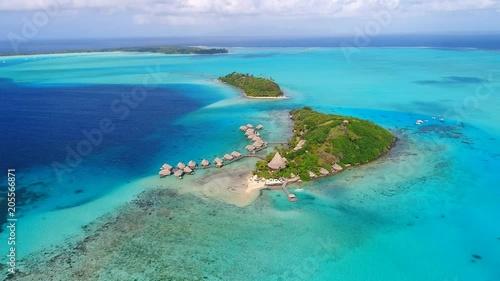 Aerial View Of Tropical Paradise Of Bora Bora Island