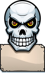 Skull Sign Illustration