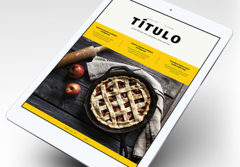 Diseño de ebook de libro de cocina