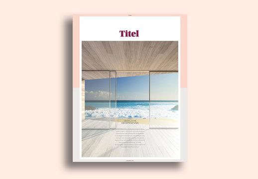 Minimalistisches Branding-Buch-Layout