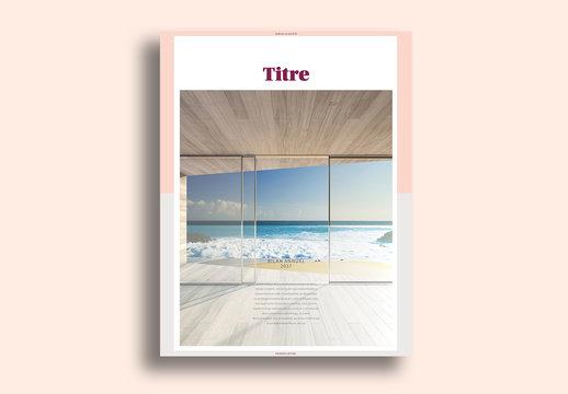 Mise en page minimaliste du livre de la marque