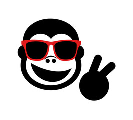 funny gorilla with glasses