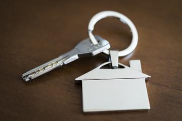 Llavero de casa y llave