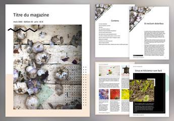 Mise en page tendance de magazine numérique