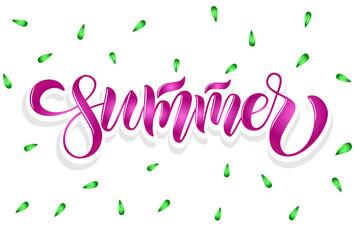 Vector text summer time for print t shirt souvenirs banner card