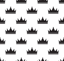 Simple seamless vector pattern with crown