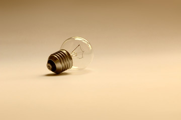 Macro Shot of a classic tungsten bulb and filament
