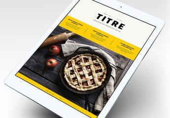 Modèle d'e-book de cuisine gourmet