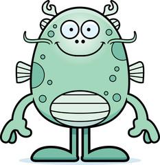 Cartoon Sea Monster Smiling