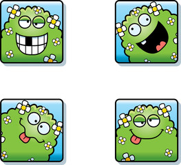 Silly Cartoon Plant Monster Icons
