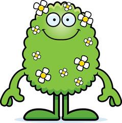 Cartoon Plant Monster Smiling