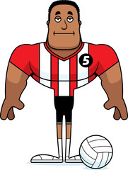Cartoon Bored Volleyball Player
