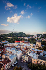 Lviv panoramic view
