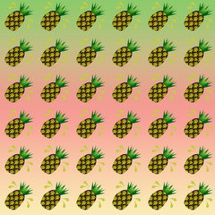 pattern  tropicale con ananas