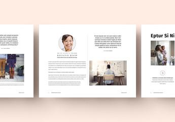 Layout di presentazione color pastello