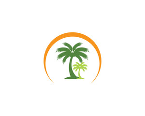 Palm tree summer vector icon