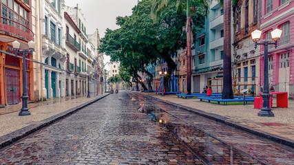 The beautiful an famous street in Recife/ Brazil