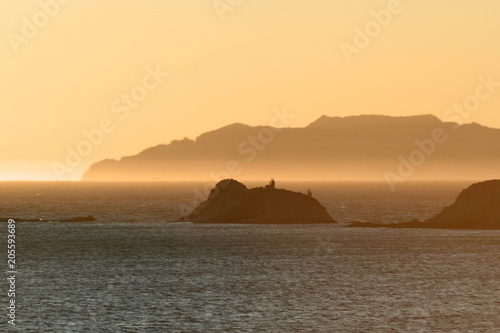 best authentic 35160 b47d7 Orange glow at sunset over Sea of Cortez, San Carlos , Mexico