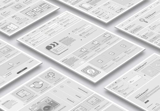 UI Website Wireframe Layout Kit