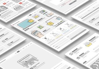 Flat Website Prototype Layout Kit